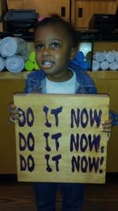 A little encouragement from my baby courtesy of Lululemon-Jacksonville, FL.
