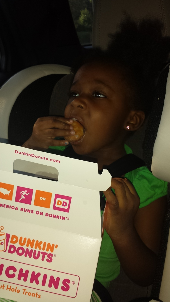 I love donuts, Mommy! Wait, what is this…jelly? Yuck!